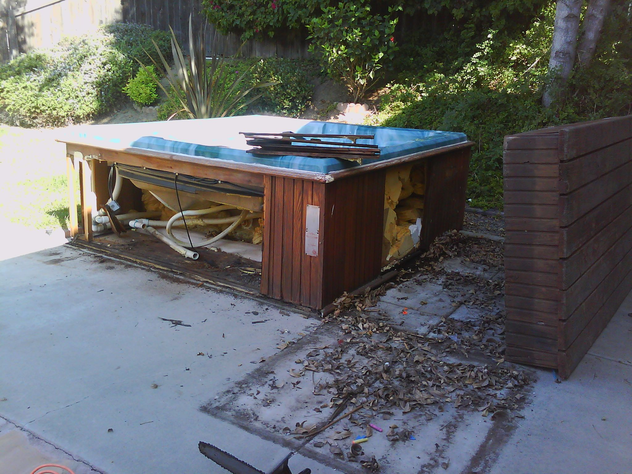 Fallbrook Hot Tub Removal
